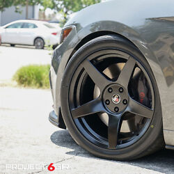 Project 6gr Five 20x10 Satin Black Concave Wheels For S550 Mustang Gt Pp Eco