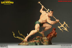 Namor The Sub-mariner Polystone Statue Excl Sideshow Used Jc