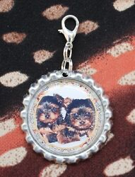 Yorkshire Terrier Yorkie Lanyard Backpack Purse Charm Zipper Pull #2