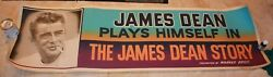 1957 The James Dean Story Orignal Movie Banner Very Rare Colorful