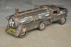 Vintage Huge Pacific Fast Mail Litho Train Engine Tin Toy , Collectible
