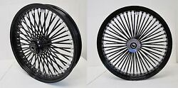 Dna Mammoth 52 Fat Black Spoke Wheels 26x3.5 And 18x5.5 200 Tire Softail Harley