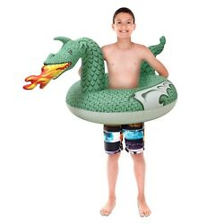 GoFloats Fire Dragon Jr Pool Float Party Tube Stylish Floating for Kids