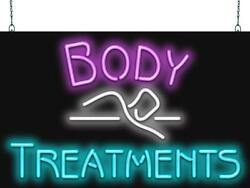 Body Treatments Neon Sign | Jantec | 2 Sizes | Spa | Massage | Real Neon