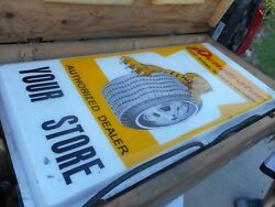 Vintage Rare Nos Penetrator Tiger Claw Lighted Gas Oil Station Sign In Crate