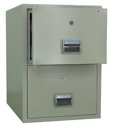 AMFFC-200 Fireproof and Burglary Resistant 2 Drawer File Cabinet
