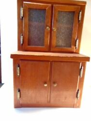 Miniature Or Child's Kitchen Hutch Or Step Back Cupboard -24 Inches Tall