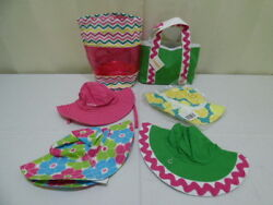 Gymboree Old Navy Girl's BeachRain Hats and Bags Lot of 6 NWT