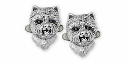 Westie Cufflinks Jewelry Sterling Silver Handmade West Highland White Terrier Cu