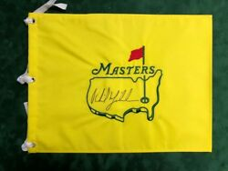 Phil Mickelson Signed Autograph Aftal Coa Un Dated Masters Golf Flag