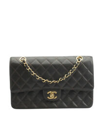 Chanel Double Flap Brown Caviar Quilted Leather Shoulder Bag