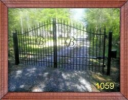 Free Shipping* Wrought Iron Style Driveway Gate 11 FT WD DS Swing Residential