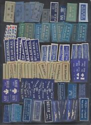 Worldwide 1930-60 Superbe Collection Of 589 Air, Express, Baggage, Censor Labels