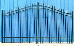FREE SHIPPING* Inc Post Pkg Wrought Iron Style Driveway Gate 11Ft WD DL Security