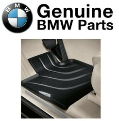 For Bmw F25 X3 F26 X4 Set Of 4 Black All Weather Rubber Floor Mats Genuine