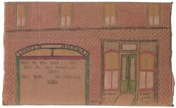 Lincoln Highway On Cardboard By Outsider Artist Lewis Smith Deceased.