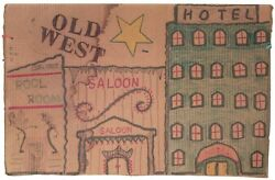 Old West Apple Man: on cardboard by Outsider Artist Lewis Smith.