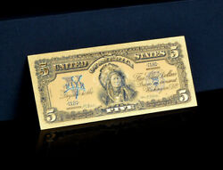 ☆touchable☆colorized1899 Gold Silver Certificate Indian Chief Rep. Banknotee