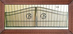 Residential Driveway Gate Steel - Iron 20' Wd Home Improvement Yard Security