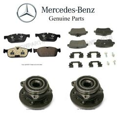For X166 Gl450 Front+rear Brake Pads And Front Hubs W/ Bearings Genuine Custom Kit