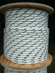 Novatech Xle Halyard Sheet Line Dacron Sailboat Rope 1/2 X 100and039 White/green
