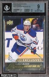 2015-16 Upper Deck Young Guns Exclusives #201 Connor McDavid RC 100 BGS 9