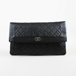 Chanel Black Quilted Calfskin Leather