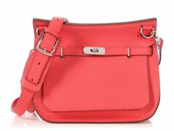 New HERMES Bougainvillier Clemence Jypsiere 28 Bag ~ A crossbody with color!