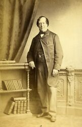 English Theater London Actor Benjamin Webster Old Cdv Photo Newcombe 1865