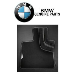 For Bmw F15 F16 F85 X5 X6 Pair Set Of Front Carpeted Floor Mats Black Genuine