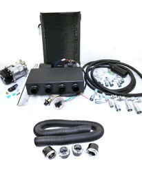 Universal Underdash Air Conditioning Ac Evaporator Kit + Duct And Vents Compressor