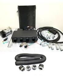 Universal Underdash Air Conditioning AC Evaporator Kit + Duct & Vents Compressor