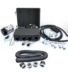 Universal Underdash Ac Air Conditioning Evaporator Kit + Duct And Vents Compressor
