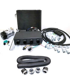Universal Underdash Ac Air Conditioning Evaporator Kit + Duct And Vents Fittings