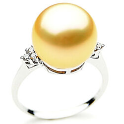 Genuine Pacific Pearls® South Sea 14mm Golden Pearl Rings Best Mothers Day Gifts