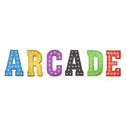 Arcade Games Pinball Game Room Play Rustic Vintage Metal Marquee Light Up Sign