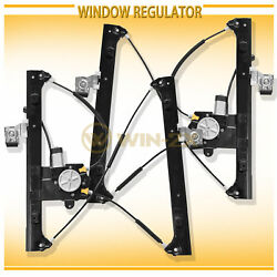 2pc Front Right+Left Power Window Regulator w Motor Fit GMC Chevy Saab Olds SUV