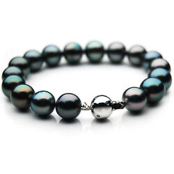 New Pacific Pearls® 11-13mm Tahitian Diamond Pearl Bracelet Gifts For Girlfriend