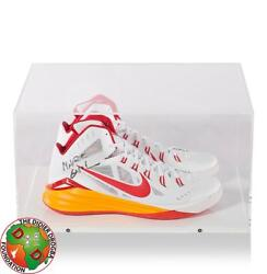 Marc Gasol Signed White Red And Orange Nike Basketball Shoes Autograph