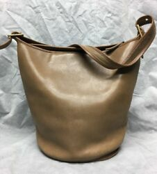 VINTAGE BROWN LEATHER COACH BUCKET SHOULDER BAG MADE IN NEW YORK CITY 273-6630