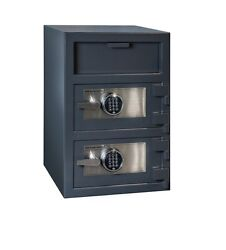Hollon Fdd-3020ee Safe B-rated Depository Safe Double Door Dual Electronic Locks