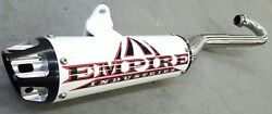 Empire Industries White Cyclone Series Full System Exhaust Pipe Trx 450r 2006+