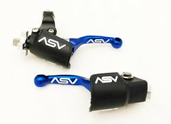 ASV Unbreakable F4 Blue Shorty Clutch Brake Levers Hot Dust Covers CRF250R 450R