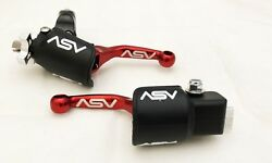 ASV Unbreakable F4 Red Shorty Clutch + Brake Levers Kit Dust Covers RM RMZ