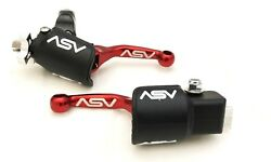 ASV Unbreakable F4 Red Shorty Clutch + Brake Levers Kit Dust Covers KX KLX