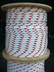 Novatech Xle Halyard Sheet Line Dacron Sailboat Rope 1/2 X 200and039 White/red
