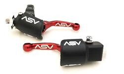 ASV Unbreakable F4 Red Shorty Clutch Brake Levers Hot Dust Covers YZ 250F 450F