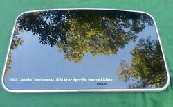 1998 LINCOLN CONTINENTAL YEAR SPECIFIC OEM FACTORY  SUNROOF GLASS FREE SHIPPING!