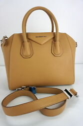Givenchy Tan Brown Leather Small Antigona Crossbody Satchel Bag $2290