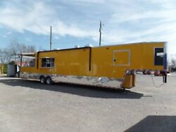 Concession 8.5x14ft Yellow Goose Neck Event Trailer